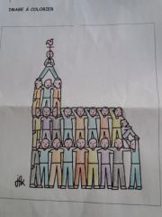 COLORIAGE EGLISE